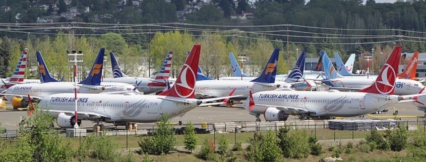 Boeing 737 max grounded